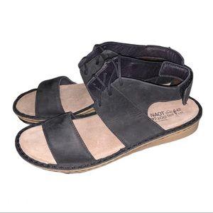"NWT Naot ""Alpicola"" Wedge Sandal Israel Made 11.5"